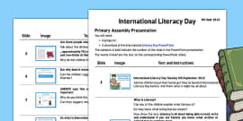 International Literacy Day 2015 Assembly Presentation