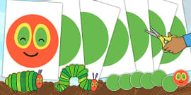 Large A2 Circular Body Cut Outs to Support Teaching on The Very Hungry Caterpillar