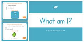 What am I? 3D Shape Properties PowerPoint