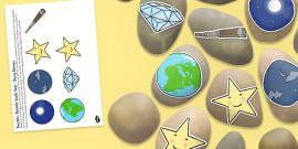 Twinkle, Twinkle Little Star Story Stones Image Cut Outs