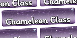 Chameleon Star Constellation Themed Classroom Display Banner