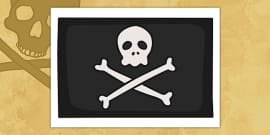 Pirates Jolly Roger Display Flag