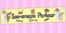 Australia - Ice Cream Parlour Role Play Display Banner