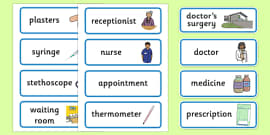 Doctor's Surgery Display Labels
