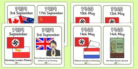 World War Two Timeline Cards