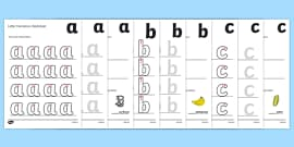 a-z Letter Formation Worksheets