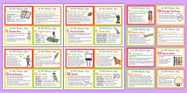 30 Warm Up Ideas for PE Cards