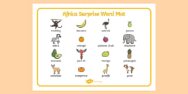 African Surprise Word Mat Images