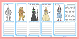 Wizard of Oz Character Description Writing Frames
