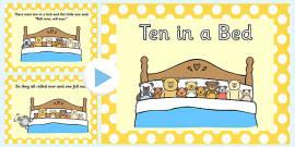 Ten in a Bed PowerPoint