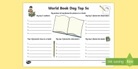 World Book Day Top 5s Activity