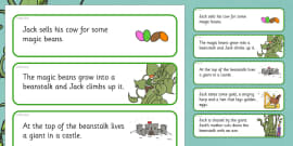 Jack and the Beanstalk Story Sequencing Cut and Stick Activity