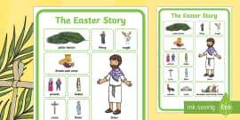* NEW * The Easter Story Word Grid
