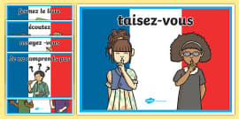 French Classroom Commands Posters