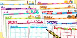 Themed Academic Calendar