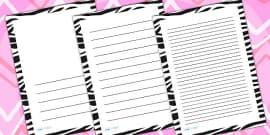 Zebra Print Page Borders