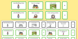 Little Red Riding Hood Sentence Building Cards