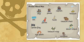 Pirate Word Mat
