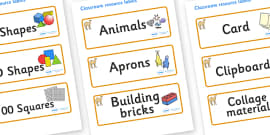 Camel Themed Editable Classroom Resource Labels