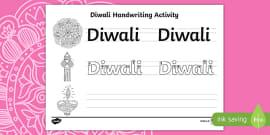 'Diwali' Handwriting Practice Sheet