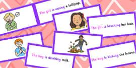 SVO Picture Description Cards