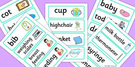 Baby Clinic Role Play Word Cards