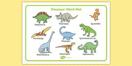 Dinosaurs Word Mat