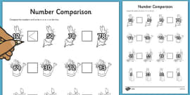 The Tale of Peter Rabbit Number Comparison Activity Sheets