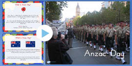 Australia - Anzac Day Information PowerPoint