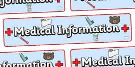 Medical Information Display Banner