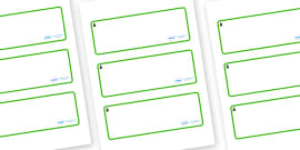Fir Tree Themed Editable Drawer-Peg-Name Labels (Blank)