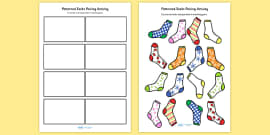 Patterned Socks Matching Activity