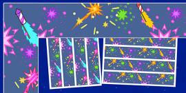Firework / Bonfire Night Display Borders