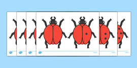 Ladybird Cut-Outs with Spots (0-10)