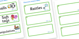 Apple Tree Themed Editable Additional Resource Labels