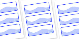Snowflake Themed Editable Drawer-Peg-Name Labels (Colourful)