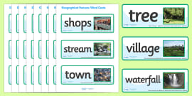 Geographical Features Word Cards