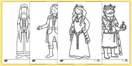 The Princess and the Pea Colouring Sheets