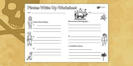 Pirates Write Up Worksheet