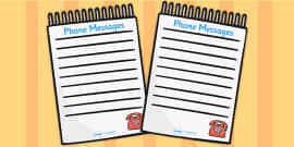 Baby Clinic Role Play Telephone Messages