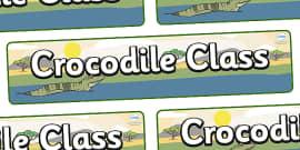Crocodile Themed Classroom Display Banner