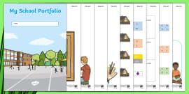* NEW * My School Portfolio Editable Activity Sheets