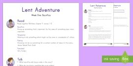 * NEW * Lent Adventure Week 1 Bible Teaching Plan