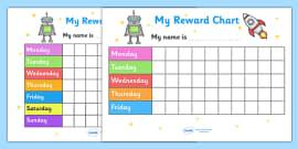 My Reward Chart (Space)