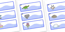 Tadpoles Themed Editable Drawer-Peg-Name Labels