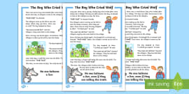 The Boy Who Cried Wolf Story