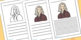Isaac Newton Writing Frames