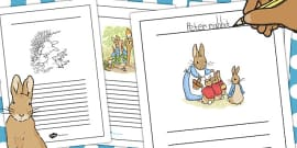 The Tale of Peter Rabbit Writing Frames