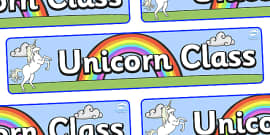 Unicorn Themed Classroom Display Banner