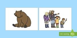 Bear Hunt Stick Puppets
